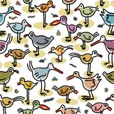 Seamless pattern consisting of images of birds Stock Photo