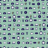 Seamless pattern consisting of images media Stock Photos