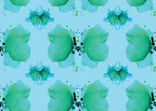 Seamless pattern , consisting of a modified watercolor blots dep Royalty Free Stock Photo