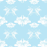 Seamless pattern , consisting of a modified watercolor blots dep Stock Image
