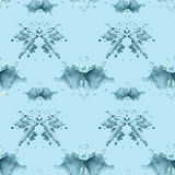 Seamless pattern , consisting of a modified watercolor blots dep Royalty Free Stock Image