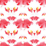Seamless pattern , consisting of a modified watercolor blots dep Royalty Free Stock Photos