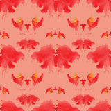 Seamless pattern , consisting of a modified watercolor blots dep Stock Images