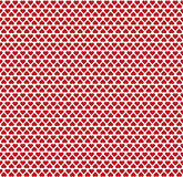 Seamless pattern consisting of small red hearts. Valentine`s day decoration can be used for background or wrapping paper Stock Photos