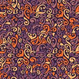 Seamless pattern consists of colorful doodles Royalty Free Stock Photography