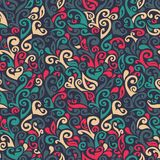 Seamless pattern consists of colorful doodles Stock Photos