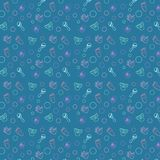 Baby pattern blue,  This seamless pattern. This seamless pattern consists of pampers, hand, leg, toy. A gentle pattern for kids, postcards, wallpaper Stock Photo