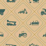 Seamless  pattern construction machines Royalty Free Stock Images