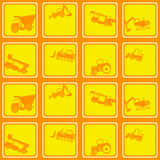 Seamless  pattern construction machines Royalty Free Stock Photography