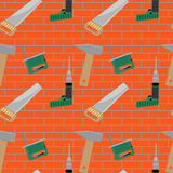 Seamless pattern with construction tools Stock Image