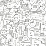 Seamless pattern construction tools Royalty Free Stock Photo