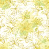 Seamless pattern, contour plants Stock Images