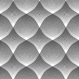 Seamless pattern. Convex and concave optical effect. Stock Photos