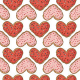 Seamless pattern with cookies design. Stock Image