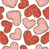 Seamless pattern with cookies design. Stock Photos