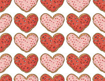 Seamless pattern with cookies design. Stock Images