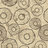 Seamless pattern with cookies design. Royalty Free Stock Photos