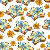 Seamless pattern cookies Stock Photography