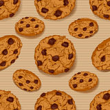 Seamless pattern with Cookies Royalty Free Stock Photography