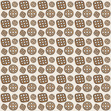 Seamless pattern. Cookies. Seamless pattern with Cookies. Vector Royalty Free Stock Image