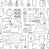 Seamless Pattern Cooking Icons Royalty Free Stock Image