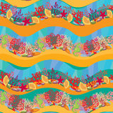 Seamless pattern with Coral Reef Royalty Free Stock Images