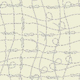 Seamless pattern with cord Royalty Free Stock Photography
