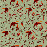Seamless pattern of corvus corax Royalty Free Stock Images