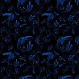 Seamless pattern of corvus corax Stock Photography