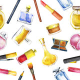 Seamless pattern with cosmetic stock illustration