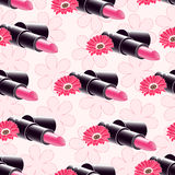 Seamless pattern, cosmetics for lips. Royalty Free Stock Image