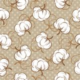 Seamless pattern with cotton buds Stock Images