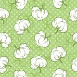 Seamless pattern with cotton buds Stock Photo