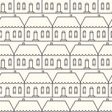 Seamless pattern with country houses. Royalty Free Stock Images