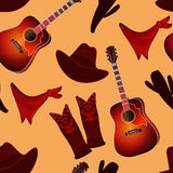 Seamless pattern with country music elements. stock illustration
