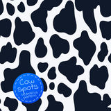 Seamless pattern with cow spots. Cartoon vector illustration Royalty Free Illustration