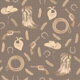 Seamless pattern with cowboy elements Stock Images