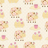 Seamless pattern with cows Stock Photography