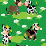 Seamless pattern with cows Royalty Free Stock Photo