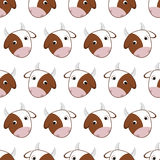 Seamless pattern of cows Royalty Free Stock Photography
