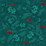 Seamless pattern of crab 2 Stock Photo