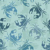 Seamless pattern of crabs Stock Images