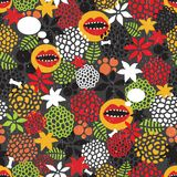 Seamless pattern with crazy mouth. Royalty Free Stock Image
