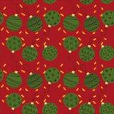 Seamless pattern of Creative Christmas balls. Seamless pattern of green Christmas and New Year balls Royalty Free Stock Photography