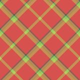Seamless pattern in creative red and green colors for plaid, fabric, textile, clothes, tablecloth and other things. Vector image stock illustration