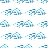 Seamless pattern of cresting ocean waves Royalty Free Stock Photography