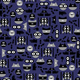 Seamless pattern with criminals Stock Photo