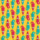 Seamless pattern with crocodiles Stock Photo
