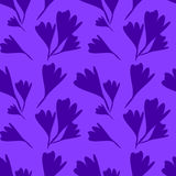 Seamless pattern with crocuses Stock Images