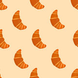 Seamless pattern with croissants. Vector illustration Royalty Free Stock Image